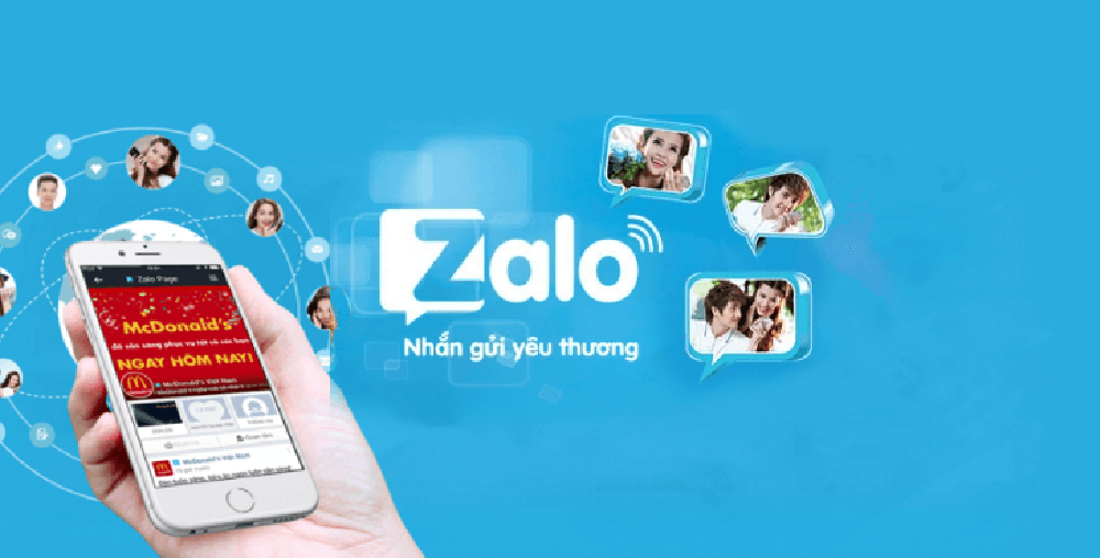 Zalo - một mạng xã hội phổ thông của người Việt Nam, được nhiều cá nhân và doanh nghiệp nhỏ ưa chuộng.