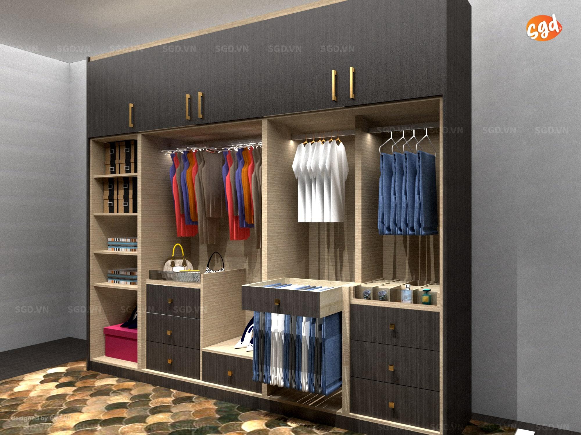 Thiết kế nội thất: tủ quần áo gia đình