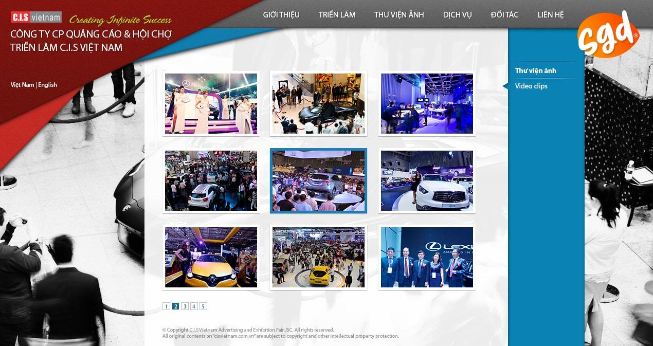 SGD.VN thiết kế website sự kiện cho công ty CIS Vietnam
