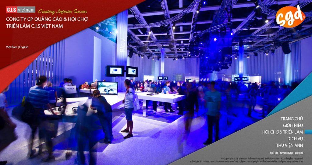 Thiết kế trang chủ website công ty tổ chức sự kiện, hội chợ triển lãm CIS Việt Nam